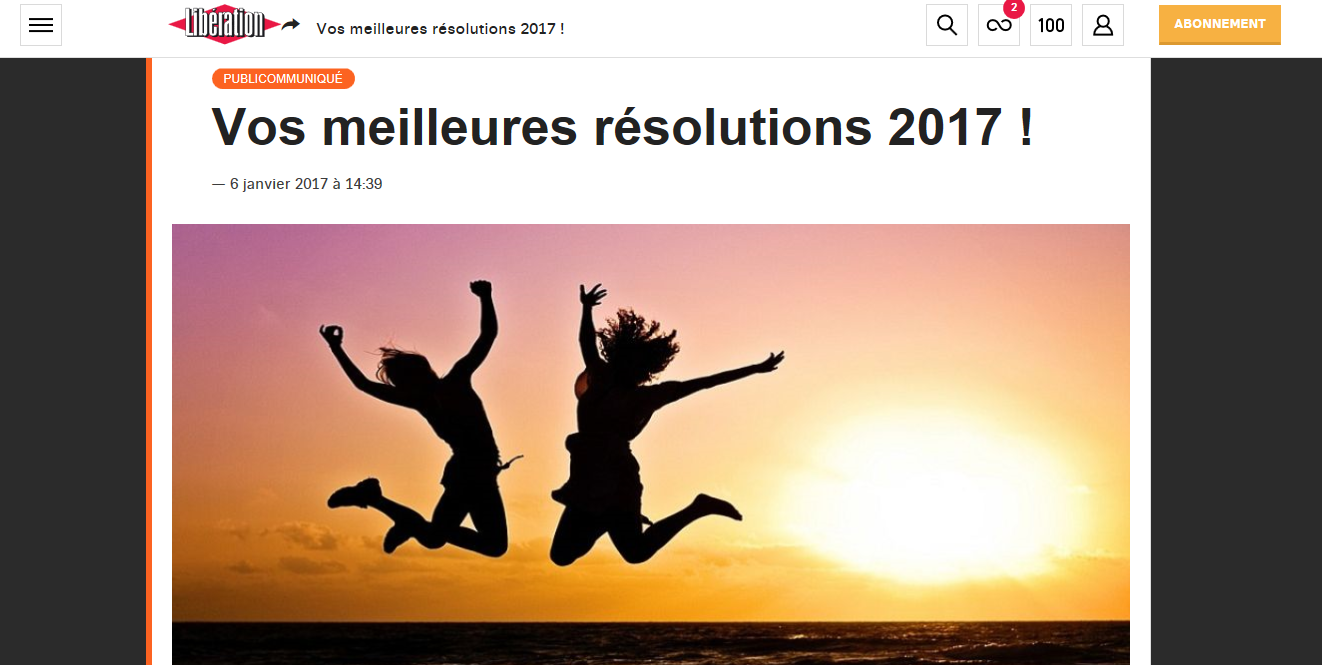 Vos meilleures resolutions 2017